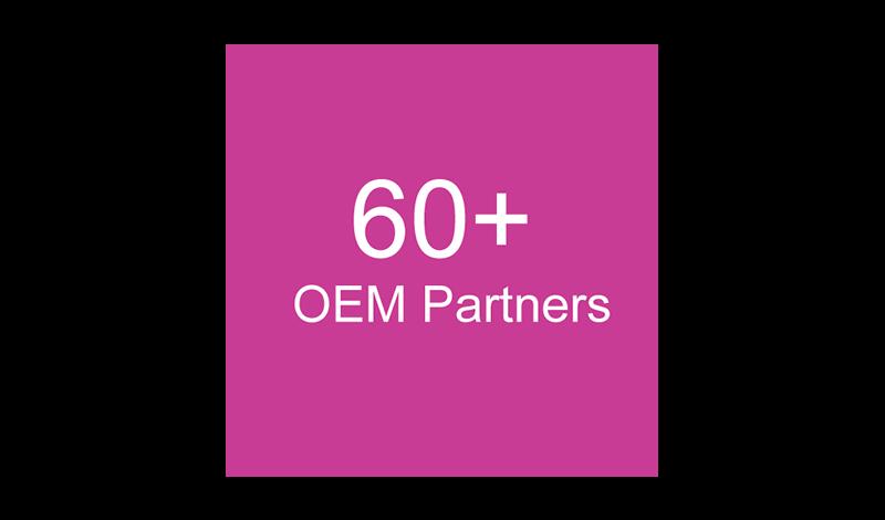 60+ OEM Partners